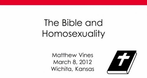 Gay Debate The Bible And Homosexuality